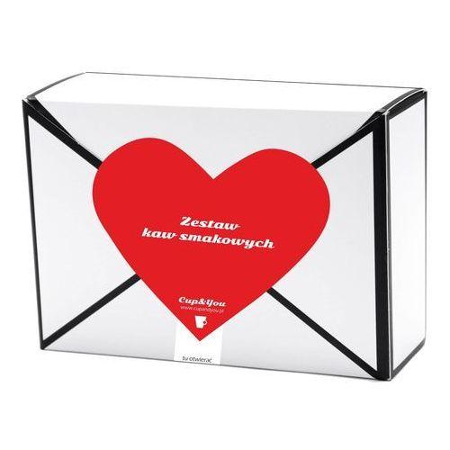 Kawowa przesyłka z sercem 18 smaków x 10g – prezent upominek dla zakochanych z kawą aromatyzowana smakową
