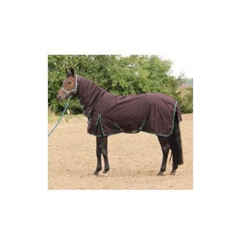 Derka zimowa, przeciwdeszczowa-York Eris zewnętrzna z kapturem kolor brązowy - produkt dostępny w Pro-horse Sklep Jeździecki