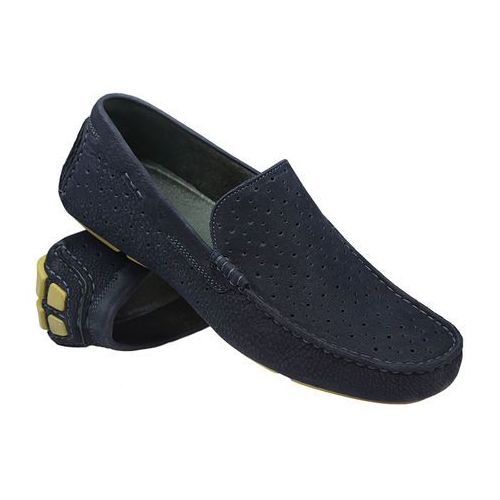 Badura Mokasyny wsuwane buty 3171 granatowe - granatowy ||niebieski