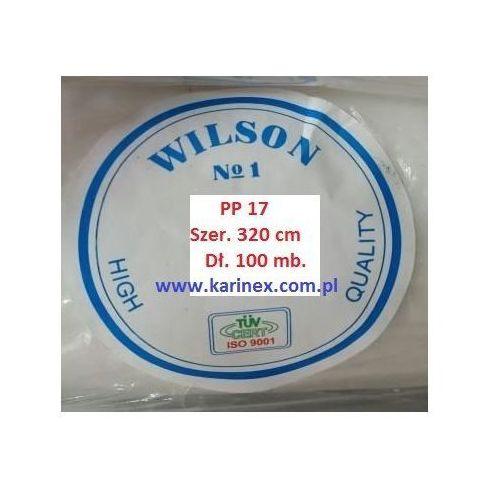 Agrowłóknina wiosenna PP 17 g/m2 biała 3,2 x 100 mb. Rolka złozona na 160 cm