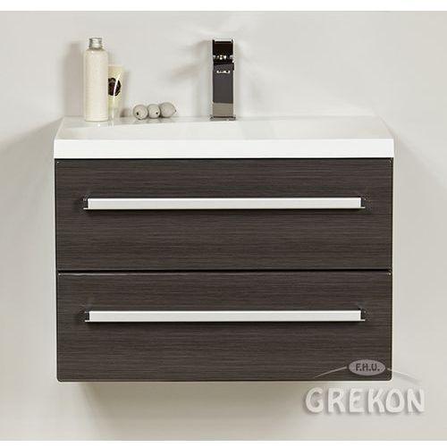 Grafitowa szafka wisząca z umywalką 60/39/m seria fokus fino marki Gante