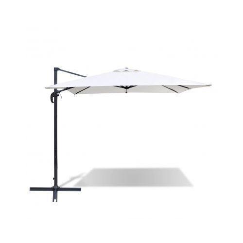 Kwadratowy parasol rzymski w kolorze białego piasku 2,5 x 2,5 m - produkt dostępny w VidaXL