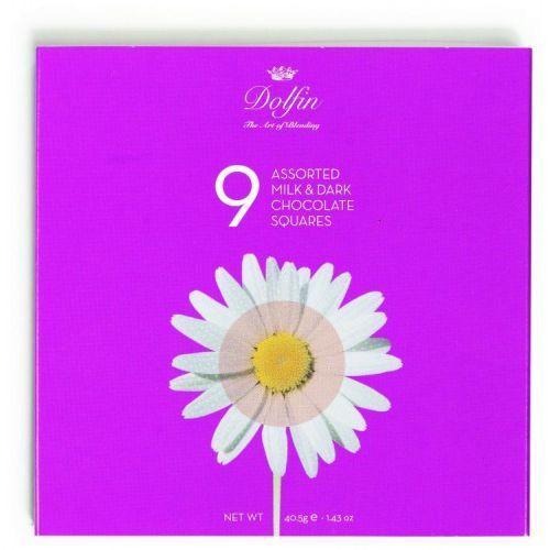 "Dolfin the art of blending Bombonierka,,kwiaty"" 9 kostek dla smakoszy dolfin"