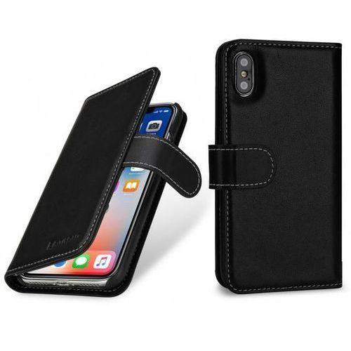 Stilgut talis czarne | etui z klapką typu książka dla modelu apple iphone x / 10 - czarny