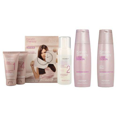 Alfaparf keratin therapy smoothing treatment kit | zestaw do keratynowego prostowania włosów + szampon 250ml + odżywka 250ml do codziennej pielęgnacji (9753197532008)