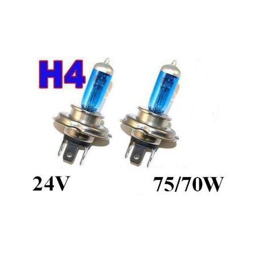 Żarówki (2szt.) h4 white xenon h.i.d. do ciężarówek... (24v - moc 70/75w) - homologowane. marki Lumiko usa