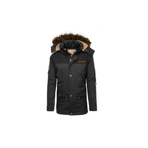 Kurtka męska zimowa czarna Denley 40014, kolor czarny
