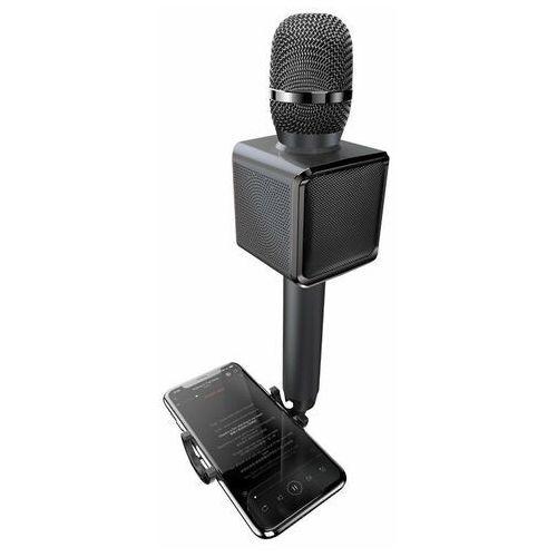 Dudao bezprzewodowy mikrofon do karaoke Bluetooth głośnik uchwyt na telefon czarny (Y16 black) (6970379618288)