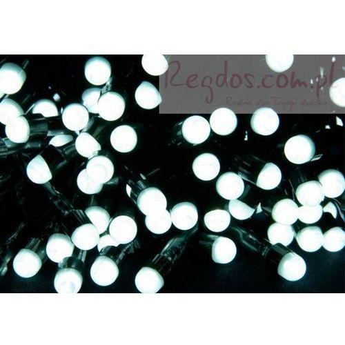 Lampki choinkowe dekoracyjne zewnętrzne LED - 100 diod - białe - 20 m - sprawdź w REGDOS