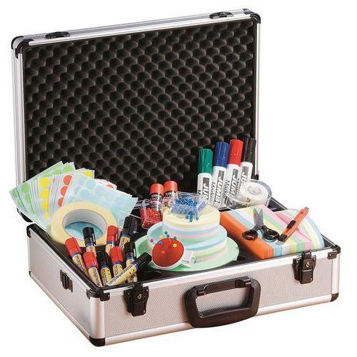 Holtz Solidna walizka do prezentacji z aluminium, wys. x szer. x głęb. 170x470x340 mm,