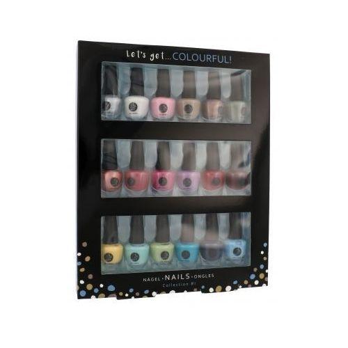 let´s get colourful! zestaw lakier do paznokci 18 x 3,5 ml dla kobiet marki 2k