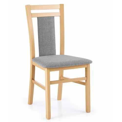 Tapicerowane krzesło do jadalni hubert 8 dąb miodowy marki Halmar