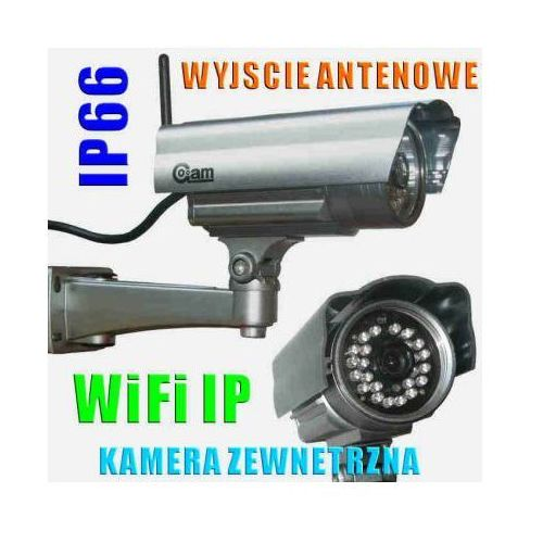 Kamera Zewnętrzna IP/WIFI (zasięg cały świat!!), Dzienno-Nocna + Możliwość Zapisu itd., 6911111006024