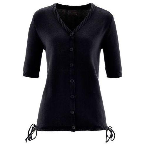 Bonprix Sweter rozpinany czarny