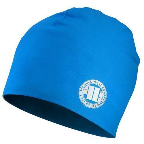 Czapka pit bull beanie small logo niebieska - niebieski marki Pit bull west coast