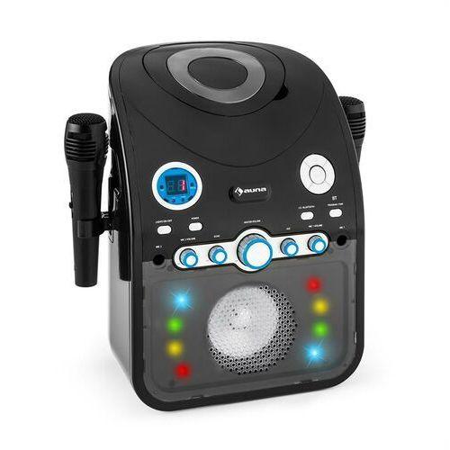 Auna Starmaker zestaw karaoke odtwarzacz cd bluetooth aux efekt świetlny led 2 x mikrofon (4260435912934)