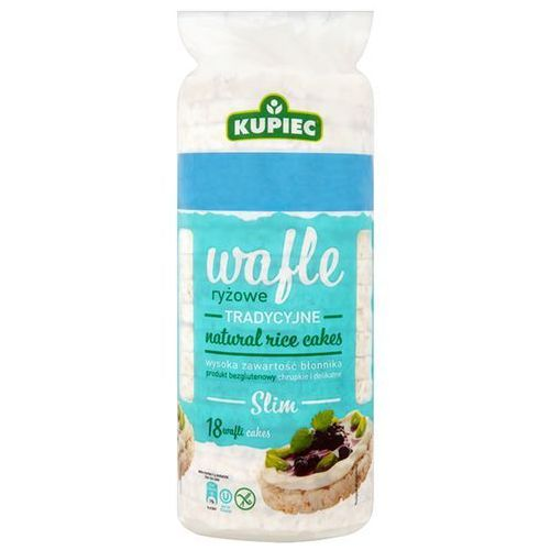 Wafle ryżowe naturalne Slim A'18 90 g Kupiec