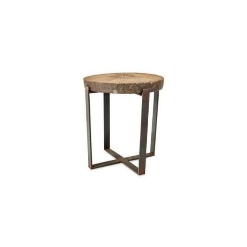 Nkuku - Stolik z drewnianym blatem Chakala