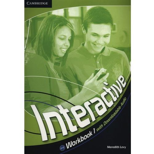 Interactive 1 Workbook (zeszyt ćwiczeń) with downloadable audio (lp), oprawa miękka