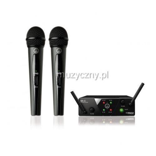 wms40 mini dual vocal set us45 a/c mikrofon bezprzewodowy podwójny (660.700 i 662.300) marki Akg