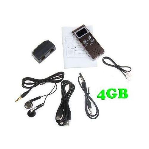 Zestaw do Cyfrowego Zapisu Rozmów Telef. Stacjonarnych 4GB (500h) + Współpraca z PC + VOX + MP3..., MicroView