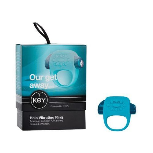 Wibrujący pierścień na penisa - Key by Jopen Halo Cock Ring niebieski - produkt z kategorii- sztuczne członki i pochwy