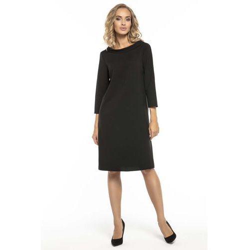 4dcfcacef6 Tessita Trapezowa czarna sukienka z kołnierzykiem jackie kennedy 139