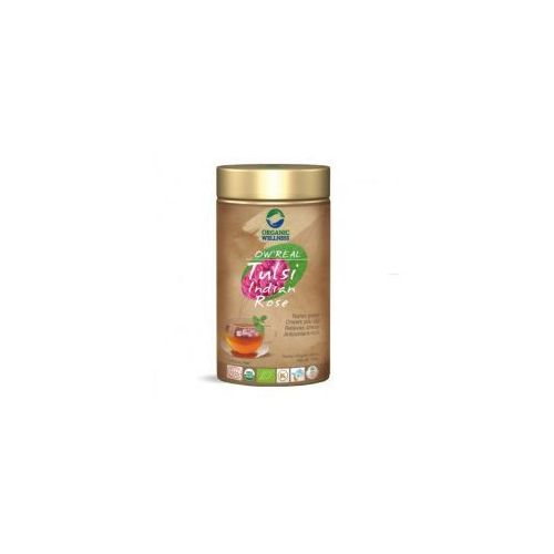Herbata Tulsi Indian Rose Organic Wellness Indie 100g
