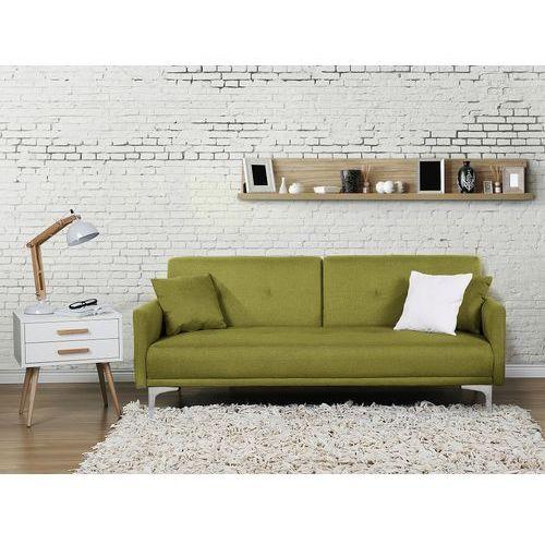 Sofa z funkcją spania zielona - kanapa rozkładana - wersalka - LUCAN (7081455614489)