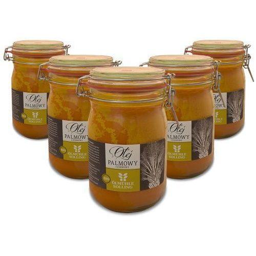 BIO Olej Palmowy zimnotłoczony 1000 ml x 5 ZESTAW