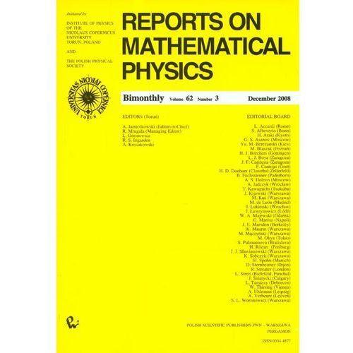 Reports on Mathematical Physics 62/3 2008