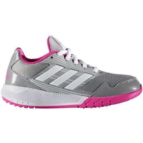 performance altarun obuwie do biegania treningowe mid grey/white/shock pink marki Adidas