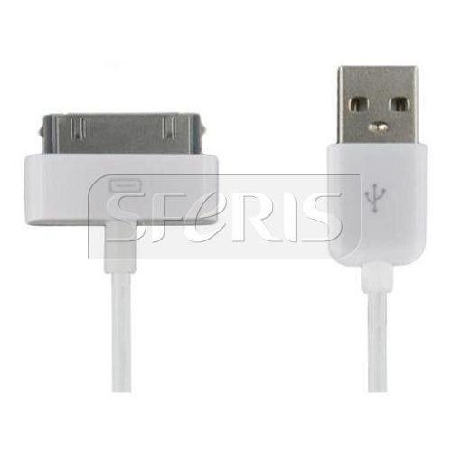 kabel usb 2.0 do ipad / iphone / ipod transfer/ładowanie 1.0m biały - 07933-oem od producenta 4world