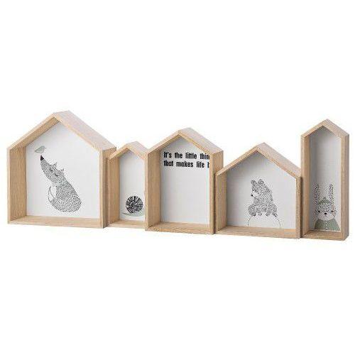 Wiszące półki domki, biały - Bloomingville, 50200223