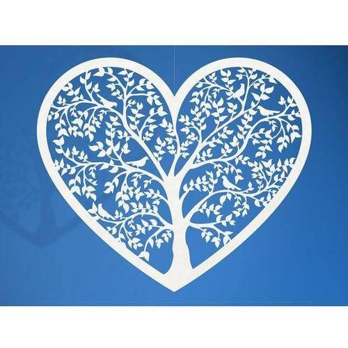 Party deco Dekoracja papierowa serce - 13,5 x 11,5 cm - 10 szt.