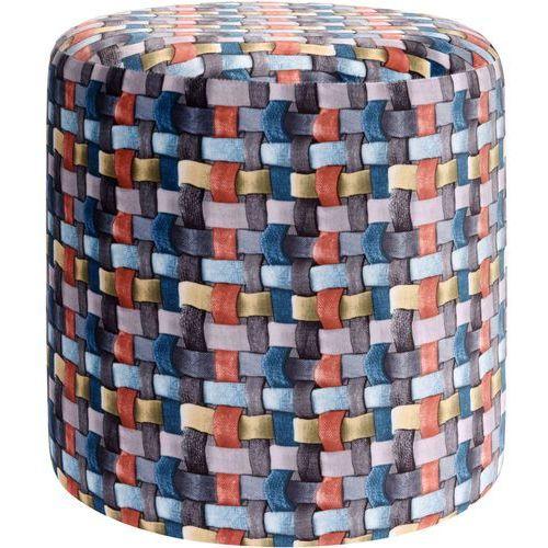 Home styling collection Pufa bawełniana, siedzisko, podnóżek, kolorowy - 35 x 35 cm (8719202554182)
