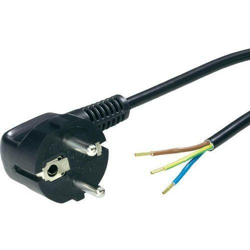 Towar Kabel zasilający  70261132, H03VV -F, 3,0 m, 250 V, Czarny z kategorii przewody