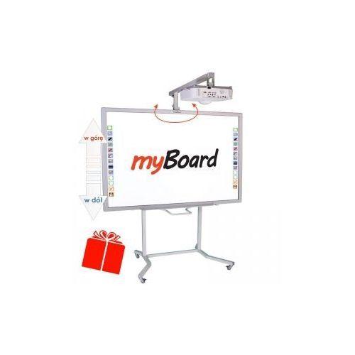 """Zestaw!tablica 84""""c +projektor epson eb-520 + statyw vis-rw100 + okablowanie 10 m (230v, hdmi) + gratis głośniki marki Myboard"""