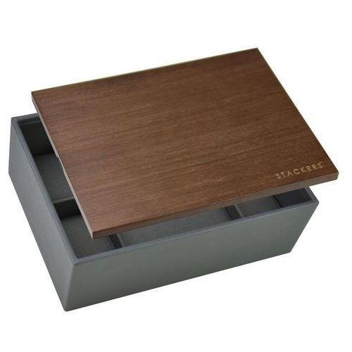 Pudełko na zegarki z drewnianą pokrywką marki Stackers