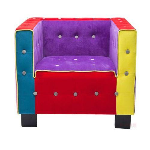 Cube Button Fotel Wielokolorowy Tkanina - 78786, marki Kare Design do zakupu w sfmeble.pl