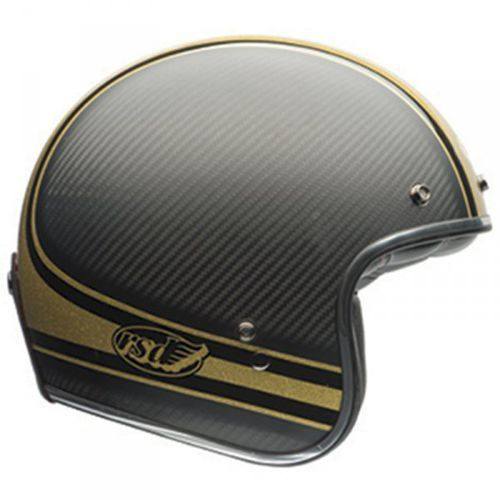 BELL CARBON RSD BOMB BLACK/GOLD Kask otwarty