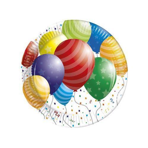 Talerzyki urodzinowe baloniki - 23 cm - 8 szt. marki Procos