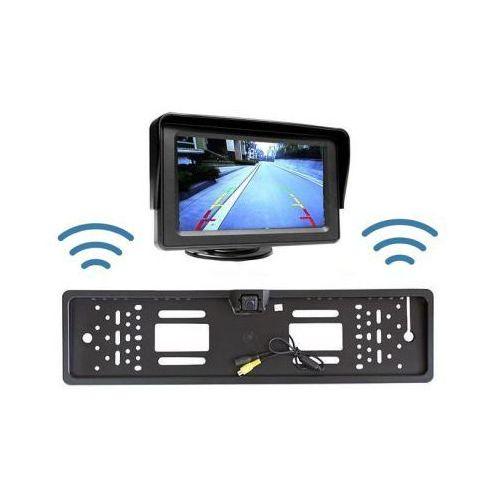 """Bezprzewodowa Kamera Parkowania (dzień-noc) w Ramce Tablicy Rejestracyjnej + Monitor LCD 4,3""""., 5907773415684"""