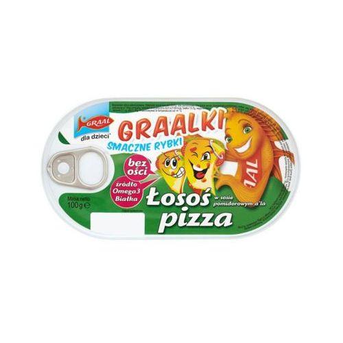 GRAAL 100g Graalki Łosoś w sosie pomidorowym a'la pizza Dla dzieci