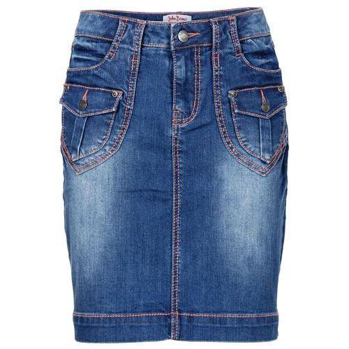 """Spódniczka dżinsowa """"authentic-stretch"""" bonprix niebieski, w 9 rozmiarach"""