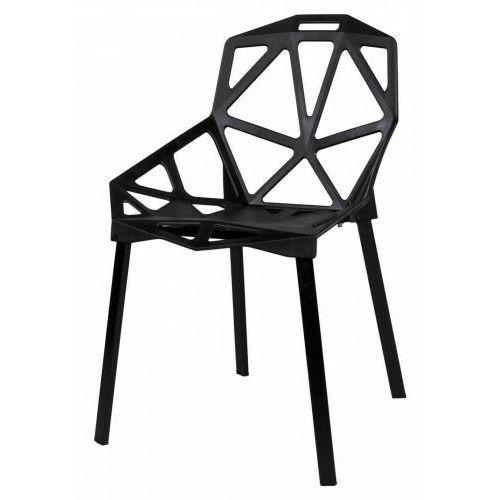 Krzesło metalowe kazadi czarne marki Krzeslaihokery