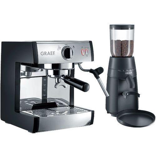 Graef Zestaw do kawy pivalla set (ekspres es 702 + młynek cm 702) (4001627010263)
