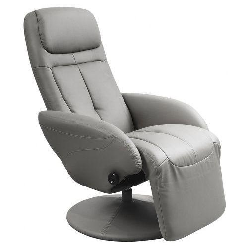 Fotel z wysuwanym podnóżkiem Timos - popielaty, kolor szary