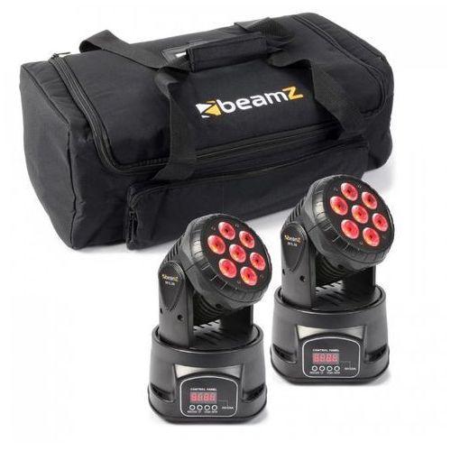 Zestaw efektów świetlnych 2x ruchoma głowica mhl-74 mini wash & 1x miękka torba transportowa marki Beamz