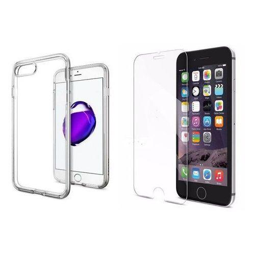 Zestaw   spigen sgp neo hybrid crystal stain silver   obudowa + szkło ochronne perfect glass dla modelu apple iphone 7 plus marki Sgp - spigen / perfect glass